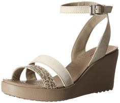 crocs Women's Leigh Leopard Print Wedge Sandal ** You can get more details by clicking on the image.