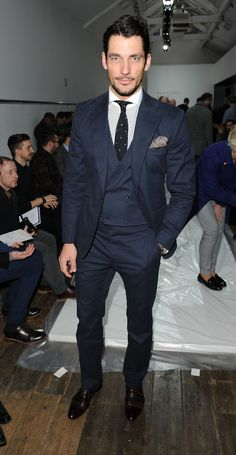 David Gandy Photos Photos - David Gandy attends the Margaret Howell show at the London Collections: MEN AW13 at  on January 8, 2013 in London, England. - Margaret Howell: Front Row - London Collections: MEN AW13