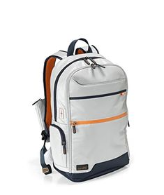Hedgren Junction Bundled 15Backpack W Retractable Cable Light GreyDark Blue >>> Click image for more details.