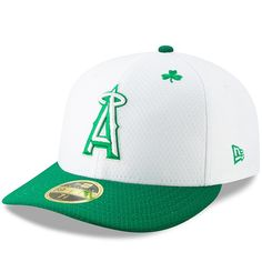 new style 30453 03e48 Los Angeles Angels New Era 2019 St. Patrick s Day On-Field Low Profile 59FIFTY  Fitted Hat – White Kelly Green