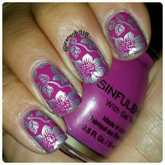 sinfulshine Royal Flush stamped with Cheeky jumbo plate 10