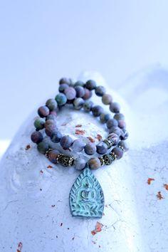 Buddha prayer necklace mala necklace yoga jewelry by BadDog1976