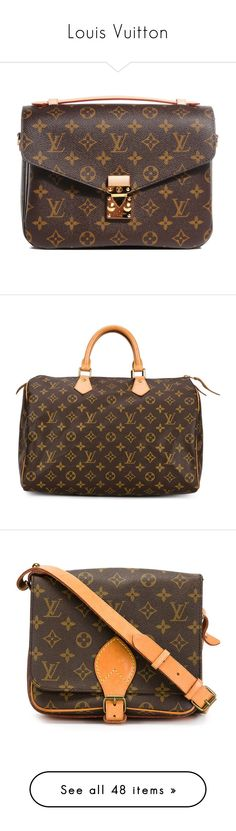 """""""Louis Vuitton"""" by the92liner ❤ liked on Polyvore featuring bags, handbags, louis vuitton, bolsos, borse, top handle purses, louis vuitton bags, monogrammed purses, brown handbags and brown bag"""