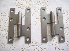 Italia vintage cerniere in bronzo steel.for porte interne ed Antique Hinges, Steel, Vintage, Antiques, Iron, Italia, Antiquities, Antique
