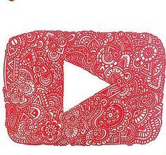 Logo de YouTube By Dani Hoyos Art vayan a seguirla en YouTube es una genia