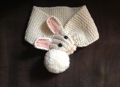 This scarf was designed for my knitting class to knit (with maybe a little help on the ears)
