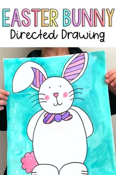 Are you searching for the perfect arts and craft activity for Easter? This Easter bunny directed drawing provides teachers with an easy to teach lesson that Kindergarten and primary kids will love! {FREE directions included} #directeddrawing #easter #easteractivities #easterbunny #artforkids #teacherfreebie Summer School Activities, Easter Activities For Kids, Spring Activities, Art Activities, Easter Art, Easter Bunny, Easter Ideas, Classroom Crafts, Classroom Activities