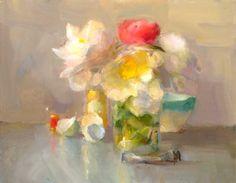 Christine Lafuente, Peonies, Eggshells, and Paint Tube