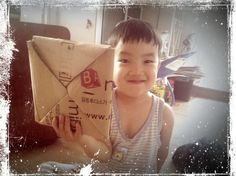 Very big paper toy for a game of slap-match.  왕 딱지~