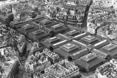 Paris vu de haut - En 1950 - Les Halles