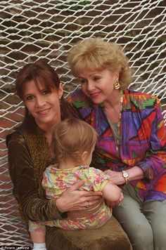 Actress and writer Carrie with her mother Debbie and her daughter Billie Lourd in 1994