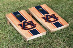 Auburn University Tigers Cornhole Game Set Hardcourt Stripe Version 2