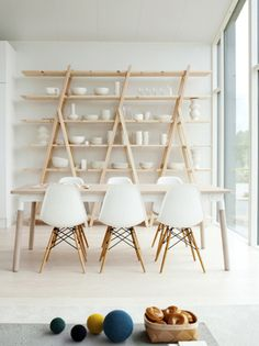 White Interior with Eames Chair.