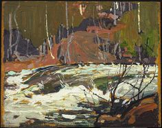 Tom Thomson Catalogue Raisonné | Rapids on Muskoka River, Spring 1916 (1916.45) | Catalogue entry