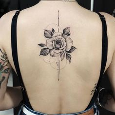 Girl's Favorite Rose Tattoo Get To Know? - Latest Fashion Trends for Girls Rose Tattoos, Sexy Tattoos, Flower Tattoos, Female Tattoos, Phönix Tattoo, Tattoo Drawings, Back Tattoo Women, Tattoos For Women, Tatouage Sublime