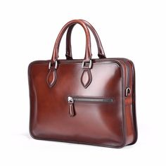 Find More Briefcases Information about TERSE 2017 New Releave Briefcase Men  Handmade Genuine Leather Bag Like Berluti 9baa6cb7da