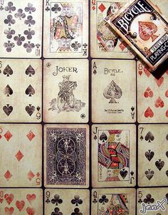 Bicycle cards.