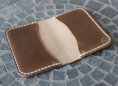 Guarded Goods - Handmade, Hand-stitched Leather Bifold Wallet (3 Slots). Great as a gift! Made in the USA.