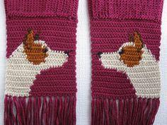 Australian Cattle Dog Scarf. Red heeler dog scarf. por hooknsaw