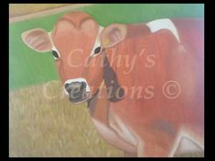 """Down on the Farm"". Something told me to paint a cow and after looking around the internet, I found the perfect cow for me to paint. I found it on the Straus Family Creamery's website. Once I got permission to paint it, I was excited to get it done.  It does not have a frame.  I'd like to sell it for $150.00."