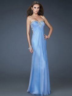 A-line Sweetheart Sleeveless Chiffon Lavender Prom Dresses With Embroidery Straps Prom Dresses, Open Back Prom Dresses, Prom Dress 2014, Prom Dresses For Sale, Prom Dresses Online, Cheap Dresses, Homecoming Dresses, Strapless Dress Formal, Evening Dresses