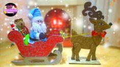 Haz tu propio trineo con papa noel y su reno para esta navidad – El Paraíso De Las Manualidades Reindeer, Snowman, Gnome, Xmas, Christmas Ornaments, Dremel, Birthday Candles, Holiday Decor, Handmade