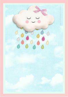 Chá de Fralda Da Júlia  Vamos comemorar para que a minha Chegada seja uma Chuva de Benção!