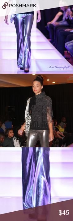 Silver platinum pants Silver platinum pants. Good for size 12 girl or size 1 to 3 in women. Slim. Made from sewing machine can be custom made to your size!!!! Fashion ShowroomCT Bottoms Casual