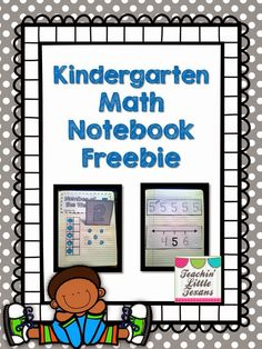 Teachin' Little Texans: Kindergarten Math Notebook {Freebie!} - Everything About Kindergarten Notebook Cover Design, Notebook Diy, Notebook Doodles, Interactive Notebooks Kindergarten, Numbers Kindergarten, Math Notebooks, Interactive Journals, Preschool Journals, Numbers Preschool