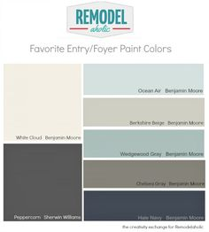 Favorite Entryway and Foyer Paint Colors