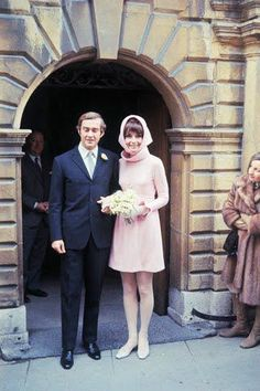 Audrey Hepburn wedding to Andrea Dotti, 1969. Hubert de Givenchy Wedding Dress