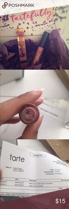 Tarte: Lip Paint Tarteist Creamy Matte Lip Paint- tbt (mauve).        This is brand new, never been used.                     100% Authentic tarte Makeup Lipstick