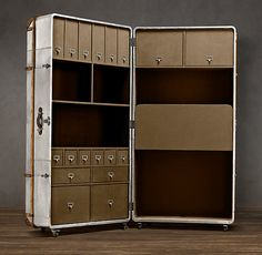 Richards' Metal Secretary Trunk. Don't think I would actually want this, but it's pretty neat