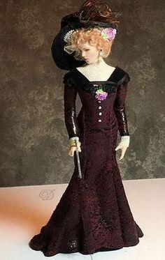 Dana of Miniature Art - scale Art Dolls Victorian Dolls, Antique Dolls, Vintage Dolls, Vintage Barbie Clothes, Victorian Dollhouse, Modern Dollhouse, Old Dolls, Vintage Paper, Porcelain Dolls Value