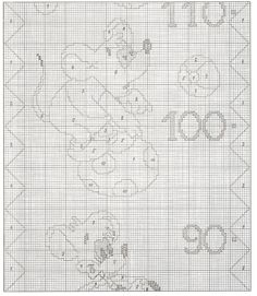 GRAFICOS PUNTO DE CRUZ GRATIS : MEDIDOR(17) Disney Cross Stitch Patterns, Cross Stitch Baby, Mickey Mouse, Cross Stitch, Gauges, Dots, Manualidades, Embroidery, Baby Mouse