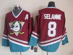 70bc7a038 Number 8 Teemu Selanne Jerseys Anaheim Mighty Ducks purple t shirts
