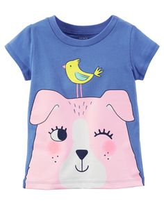 Toddler Girl Dog Graphic Tee | Carters.com