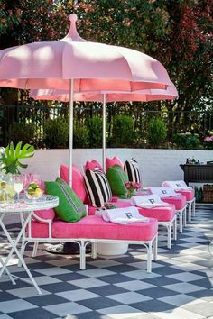 Tobi Fairley's Backyard design in Pink and Green!