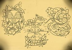 A Studio Ghibli Tattoo flash