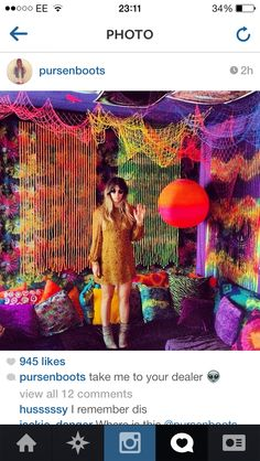 psychedelic room