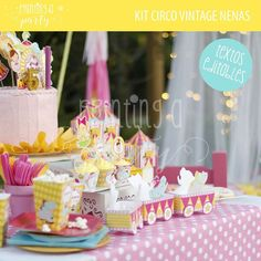 Yellow Pink Circus Carnival Girl´s Party | CatchMyParty.com
