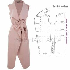 Sensational Tips Sewing Pattern Ideas. Brilliantly Tips Sewing Pattern Ideas. Coat Patterns, Dress Sewing Patterns, Clothing Patterns, Diy Clothing, Sewing Clothes, Fashion Sewing, Diy Fashion, Mode Kimono, Diy Kleidung