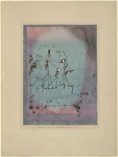 "The ORIGINAL twitter :-)      Twittering Machine (Die Zwitscher-Maschine)  Paul Klee (German, born Switzerland. 1879-1940)    1922. Oil transfer drawing, watercolor and ink on paper with gouache and ink borders on board, 25 1/4 x 19"" (64.1 x 48.3 cm). Purchase. © 2012 Artists Rights Society (ARS), New York / VG Bild-Kunst, Bonn  564.1939"