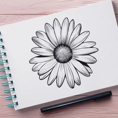 Find the tattoo artist and the perfect inspiration to make your tattoo. - Artwork designed by Lina Aurora (inklina) from Campina Grande. Easy Flower Drawings, Flower Sketches, Easy Drawings, Pencil Art Drawings, Art Drawings Sketches, Tattoo Drawings, Floral Drawing, Drawing Drawing, Mandala Art