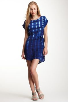 French Connection Fast Tribal Tease Silk Dress on HauteLook