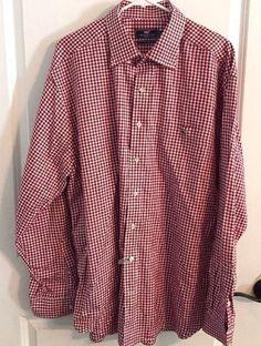 Vineyard Vines Classic Fit Tucker Shirt Red & White Size XL #VineyardVines #ButtonFront