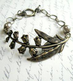 Brass Woodland Flower Bracelet | Jewelry Bracelets | Botanical Bird | Scoutmob Shoppe | Product Detail