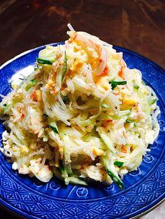 tachi's dish photo ハナたなさんの料理 春雨とキュウリの明太子マヨソースサラダ | http://snapdish.co #SnapDish #レシピ #おつまみ #サラダ #美容/ダイエット