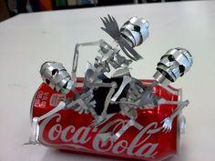 Afbeeldingsresultaat voor soda can art