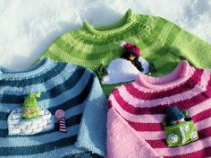 Ravelry: Buddy Sweaters {includes 3 variations} pattern by annypurls
